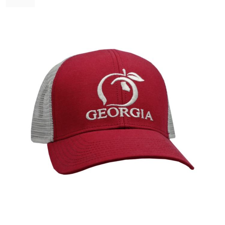 b305ddde4fb Peach State Pride Georgia Mesh Back Trucker Hat
