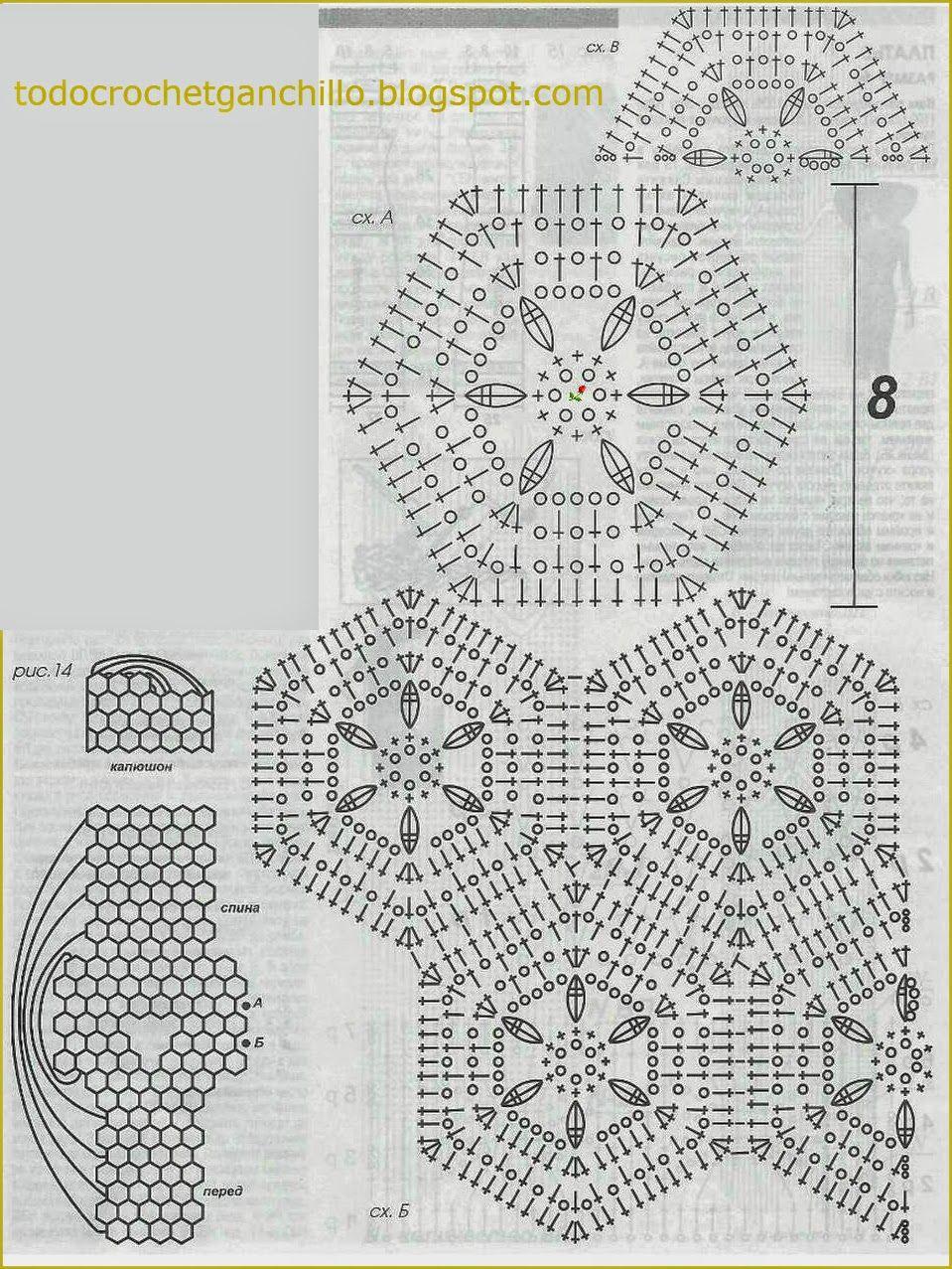 Único Patrón De Crochet Capucha Regalo - Manta de Tejer Patrón de ...