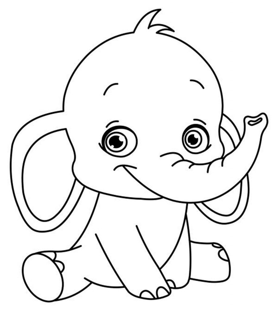 Preschool Coloring Pages And Worksheets Elephant Coloring Page