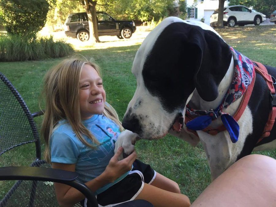 Little Girl With Metabolic Disease Relies On Her Great Dane