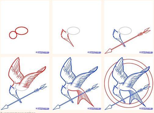 Comment dessiner un geai moqueur hunger games - Dessiner un squelette ...