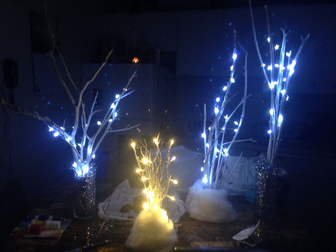 Home made lighted trees