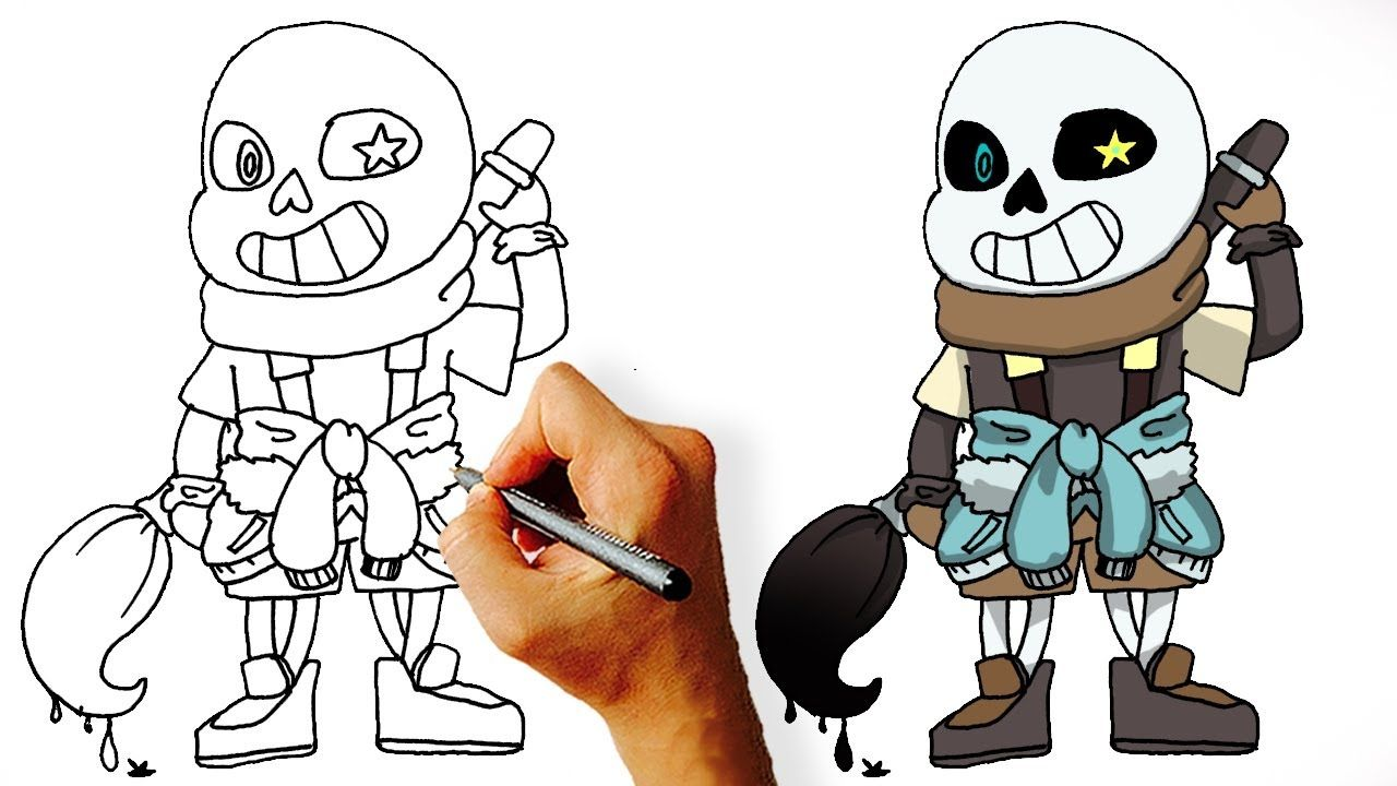 Scroll Down To Read How To Draw Underfell Sans Drawings