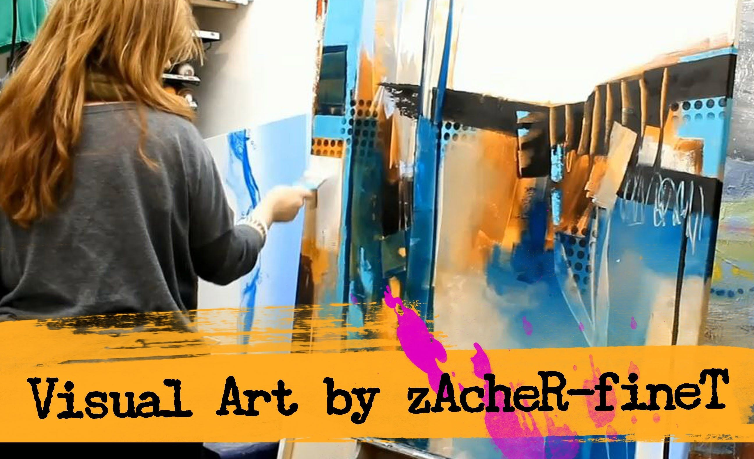 Abstract acrylic Painting by zAcheR-fineT - peinture abstraite , abstrak...