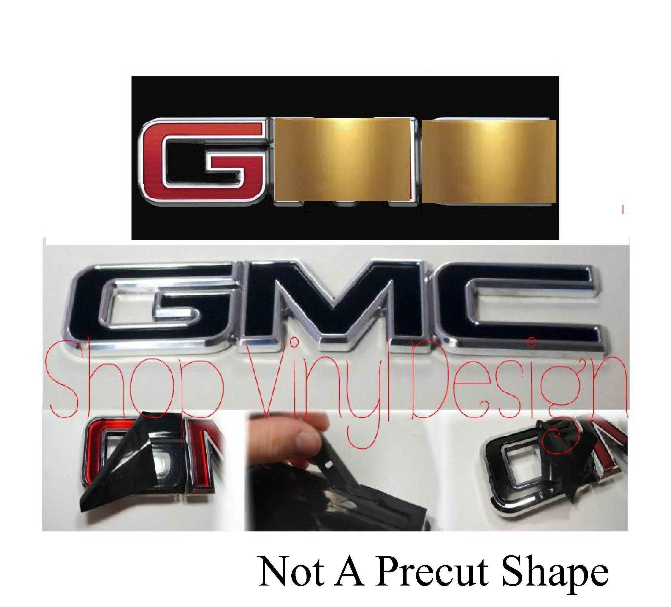 07 17 Gmc Front Rear Emblem Kit Yukon Sierra Denali Terrain Acadia