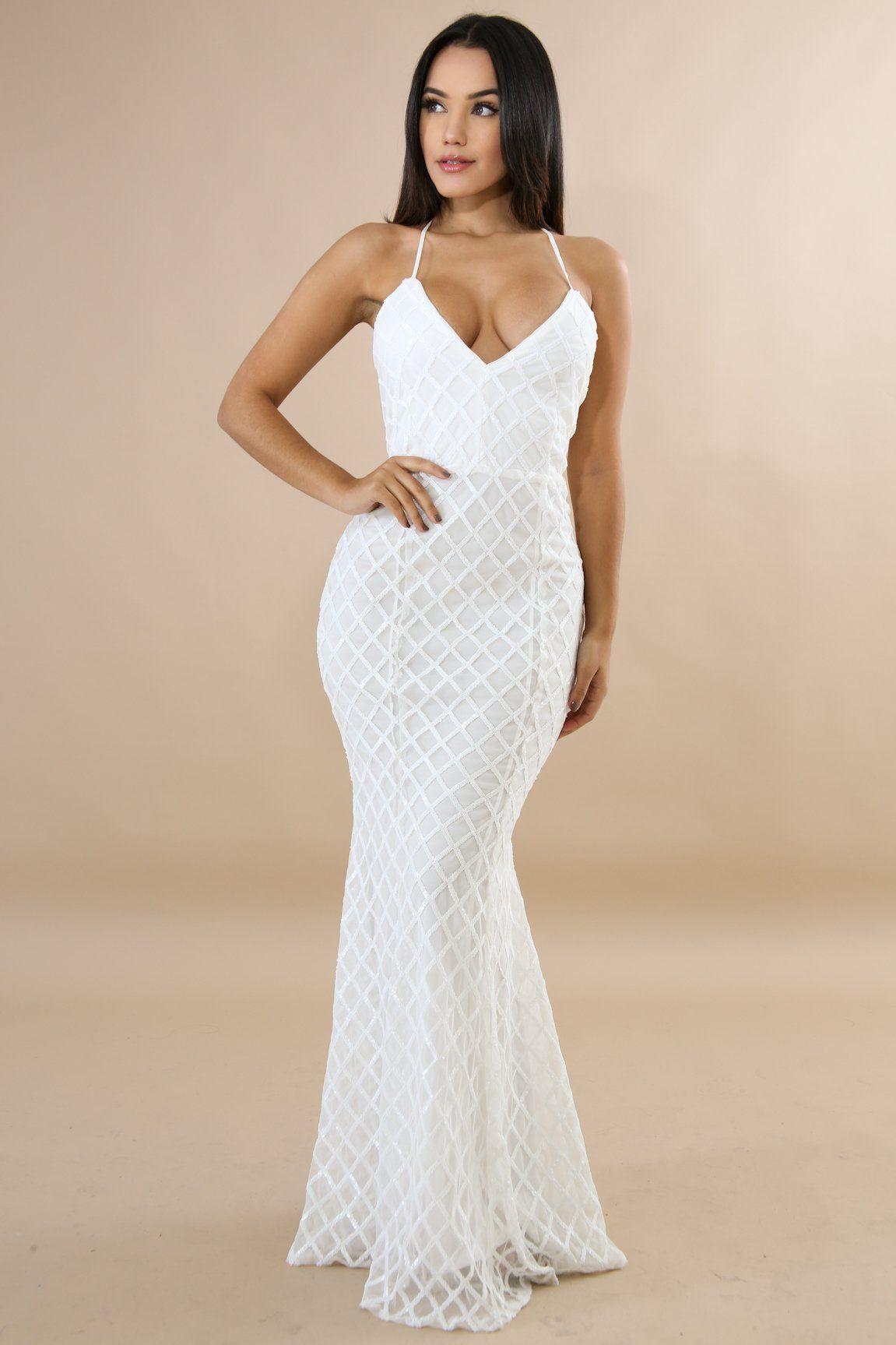 Sequin Diamond Mermaid Dress Description This sequin