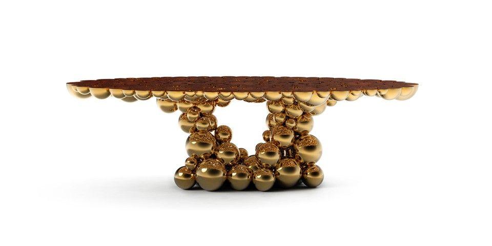 Boca do Lobo Newton Gold Myrtle Dining Table Tables, Room and House - boca do lobo sideboard designs