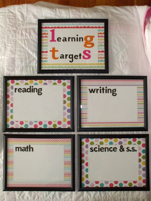Welcome to First Grade Room 5: DIY: Learning Target Frames ...