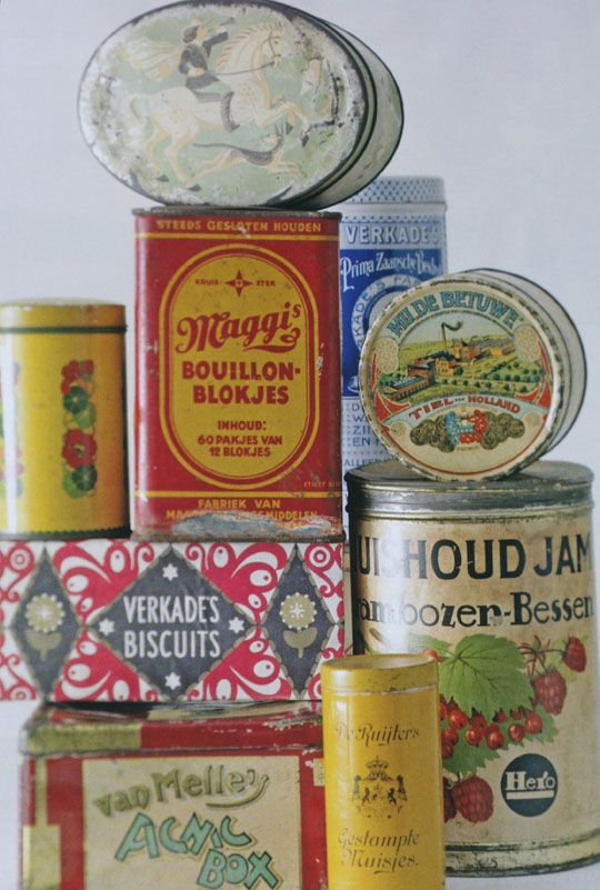 Canisters: Old Dutch canisters by Ariadne at Home. The design is lovely!