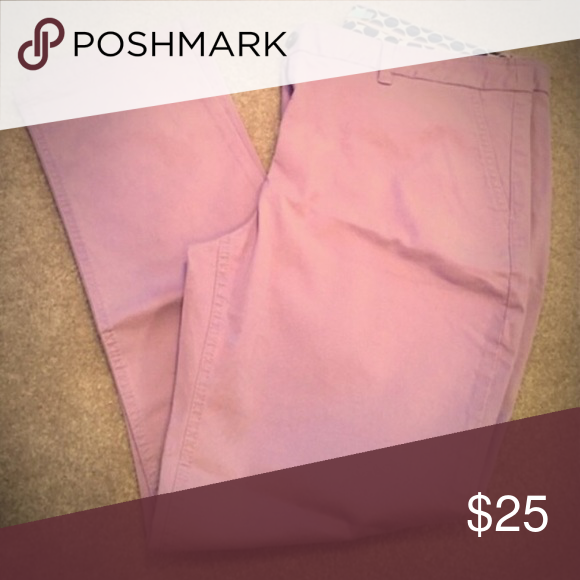 Boden lilac 7/8 Chino Pant size 8 I ordered these in the spring and failed to return before the 30 days was up. They are a size US 8. They are the 7/8 pant. Only tried on. Never worn. Boden Pants