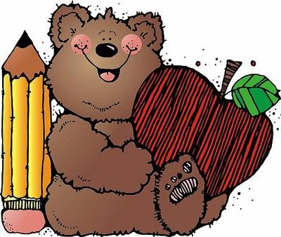 Elementary School Clip Art | Bear clipart | Illustration School ...