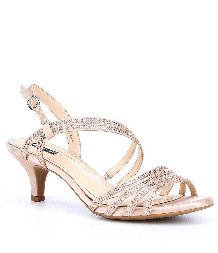 8ce47311ce0 New Nude Alex Marie Layona Jeweled Satin Dress Sandals. New Nude Alex Marie  Layona Jeweled Satin Dress Sandals Rose Gold Shoes Heels
