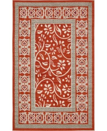 Bridgeport Home Pashio Pas3 Rust Red 5 X 8 Area Rug Reviews Rugs Macy S Area Rugs Rugs Colorful Rugs