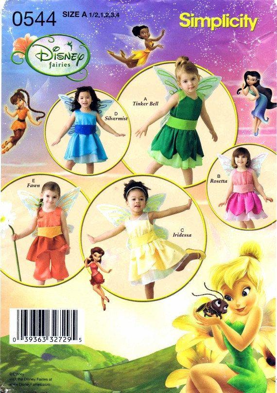 Toddler Girls Disney Fairy Tinker Bell Rosetta Iridessa Silvermist ...