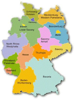 Map German States | My German Blood =) | Pinterest | German, Germany ...