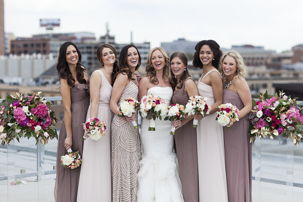 Real Bridesmaids In Beige Bridesmaid Dresses: Our Bella Bridesmaids.