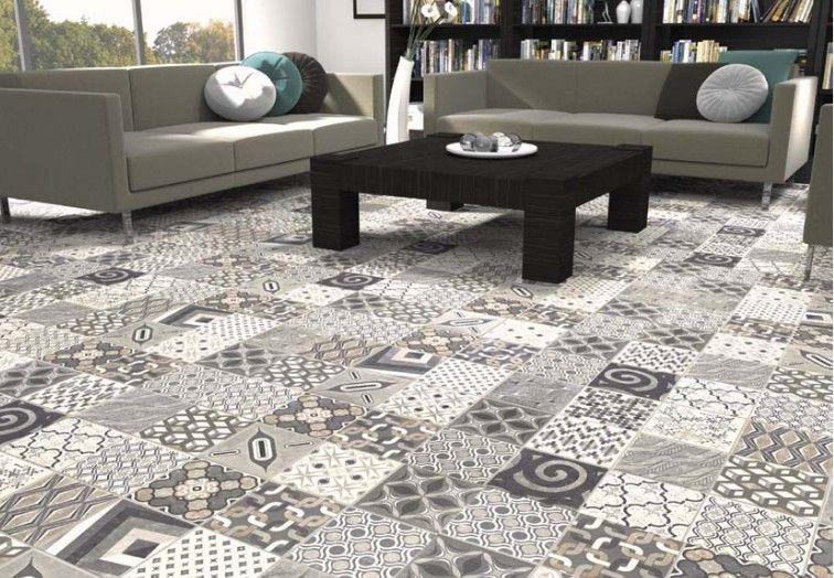 salon carreau ciment | Carreaux ciment, Imitation carreaux de ciment, Carrelage sol interieur
