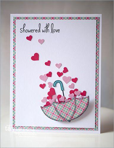 Showered With Love Cartao Dia Dos Namorados Cartoes Artesanais