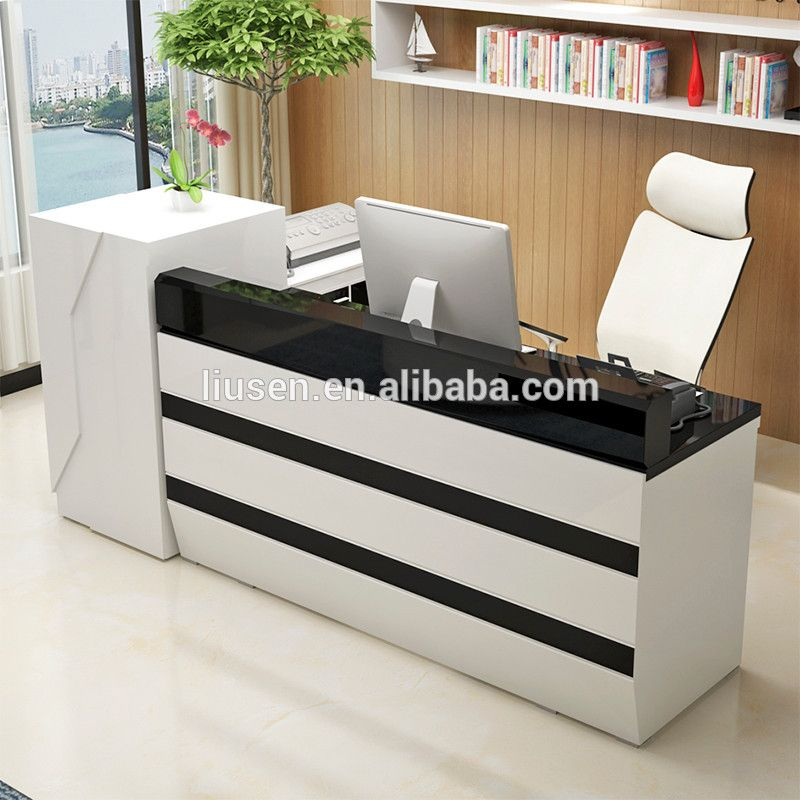 Excellent quality receiption furniture modern hotel for Office counter design