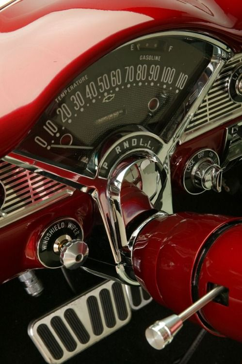 Red What A Great Dash With Images Chevrolet Bel Air