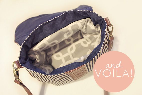 Turning a regular purse into a camera bag