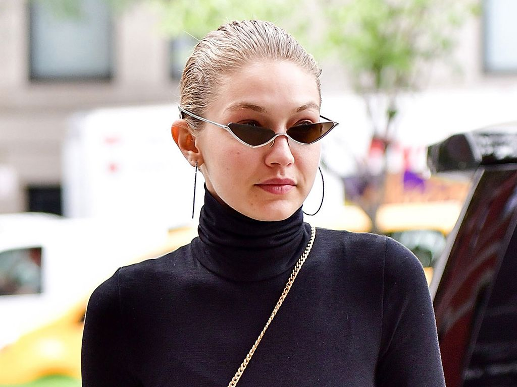 ff1d8566431 10 Times Celebrities Wore Tiny Sunglasses  Celebrities everywhere are  revealing their penchants for wearing black leather and minuscule eyewear.