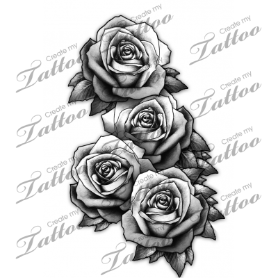 3 Realistic Roses Sorry 160346 Createmytattoo Com Custom Tattoo Design Tattoos Tattoo Designs