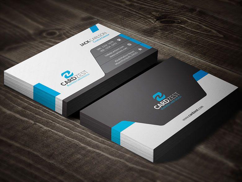 Download http cardzestcom modern sleek professional for Professional business card templates free download