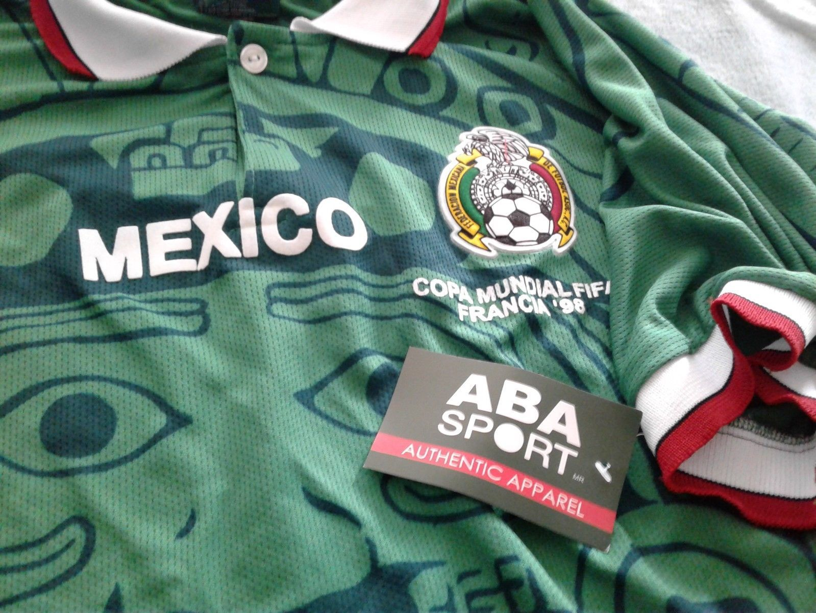 185e96ae96f 1998 ABA Sport Mexico National Soccer Jersey shirt adidas Football 2016 98