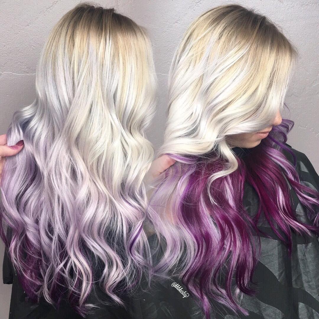 380 Likes 7 Comments Kreative Hair By Kesley Khbkesley On Instagram Purple Hair Hair Styles Platinum Blonde Hair