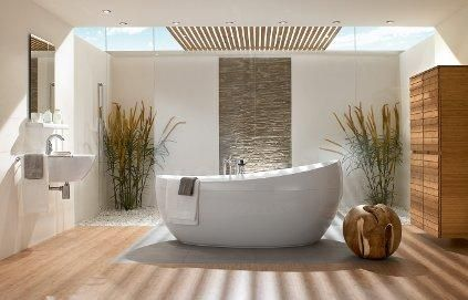 Awesome Salle De Bain Baignoire Ilot Ideas - Awesome Interior Home ...