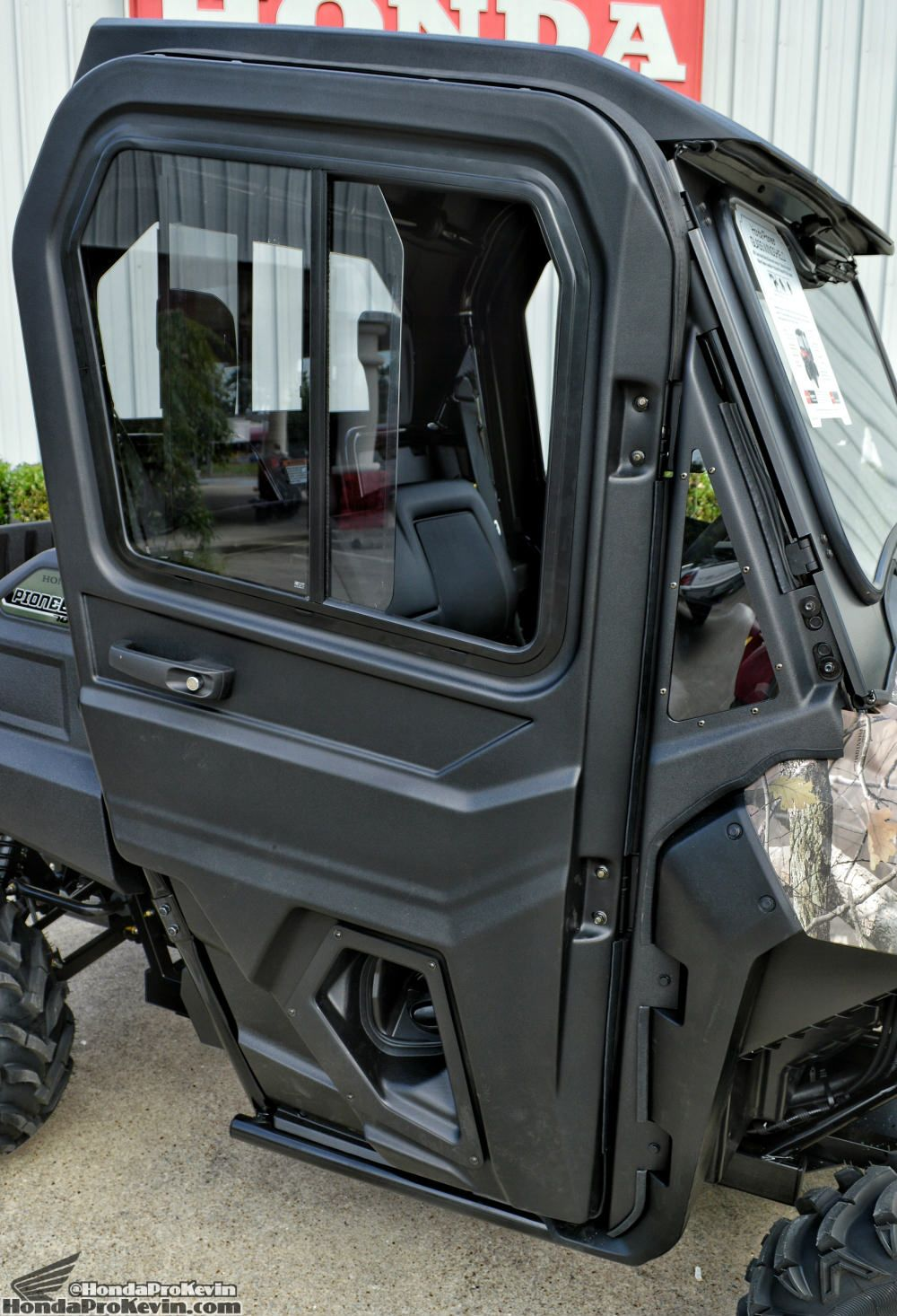 Bon 2016 Honda Pioneer 700 4 Hard Cab Doors Accessory Review + Discount OEM  Parts Prices