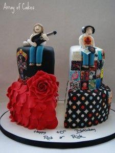 Twins Teenage Birthday Cake duo cakes Pinterest Birthday cakes