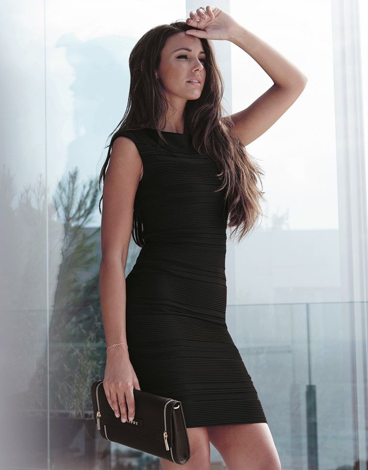 2996e7a5e5fc Lipsy Love Michelle Keegan Ripple Detail Bodycon Dress | Clothing ...