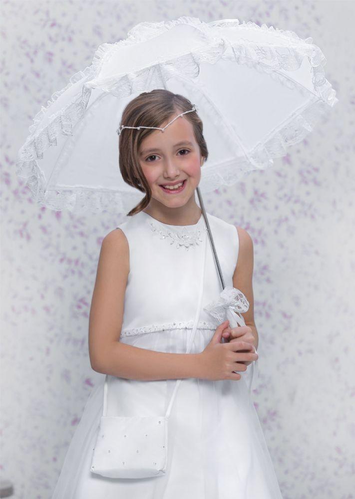 Romantischer Schirm zur Kommunion, etwas Besonderes