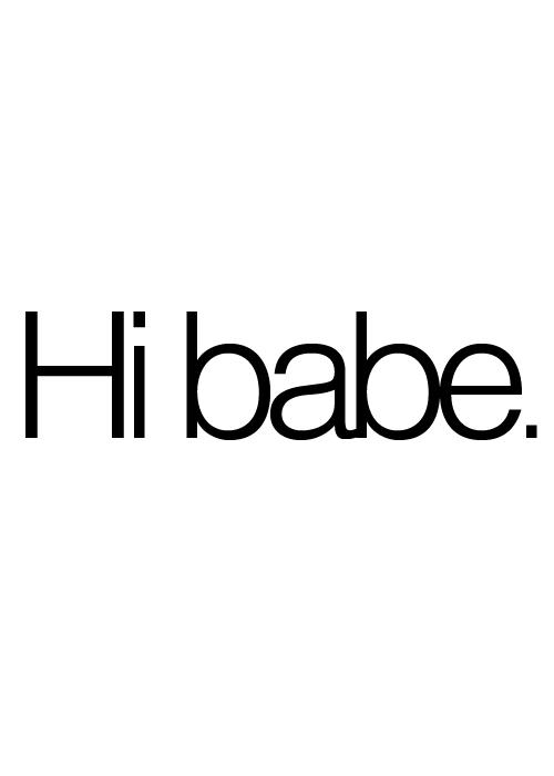 when a man calls you baby