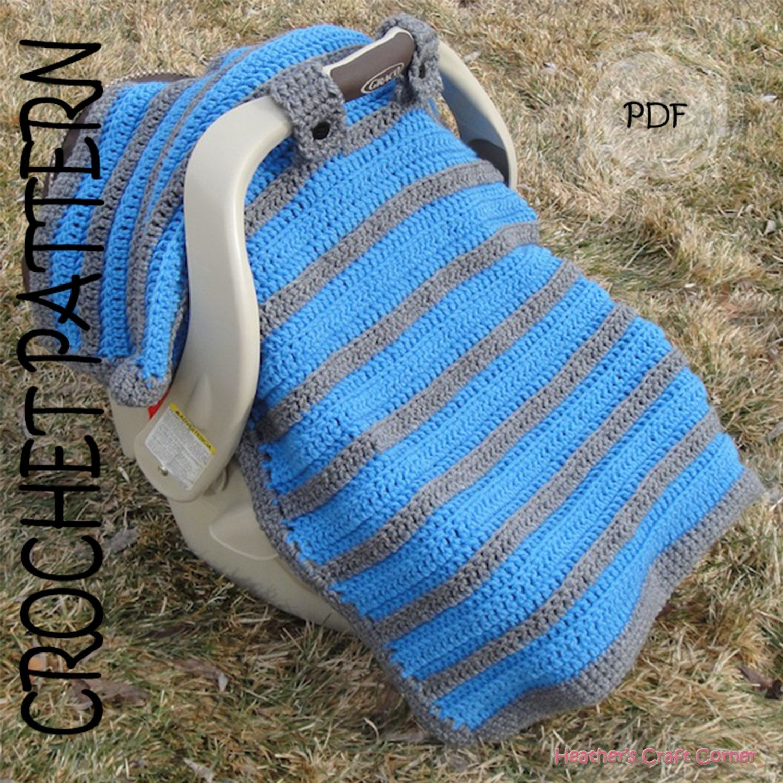 CROCHET PATTERN - Simply Sweet Car Seat Canopy / Blanket   Sweet ...