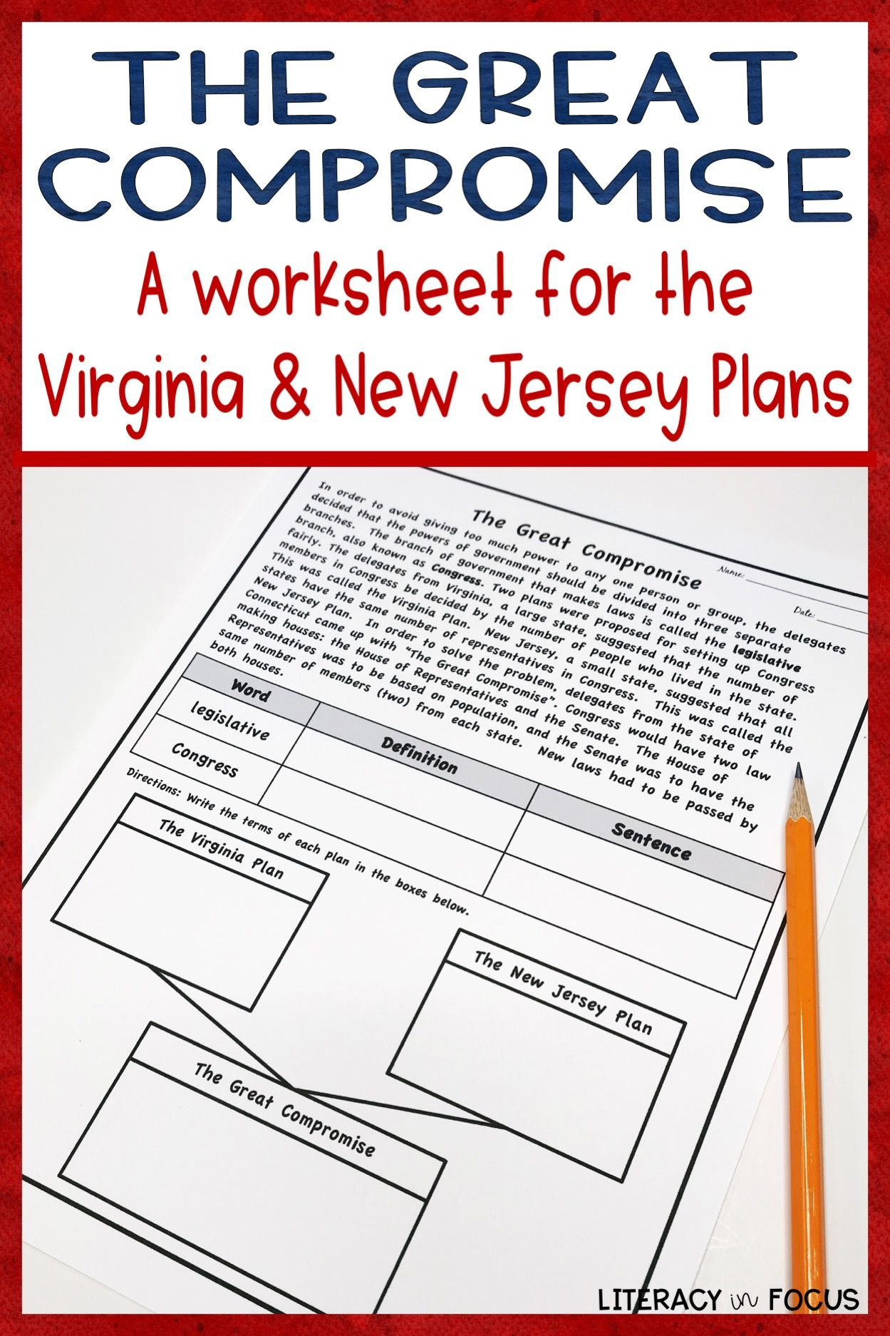 the virginia plan & the new jersey plan: the great compromise | us