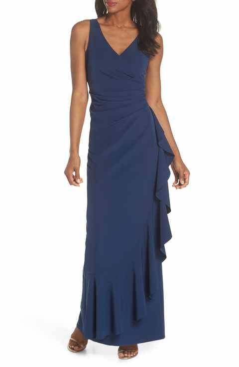 a3f06e9ec Vince Camuto Laguna Faux Wrap Gown | Bridesladies in 2019 | Wrap ...