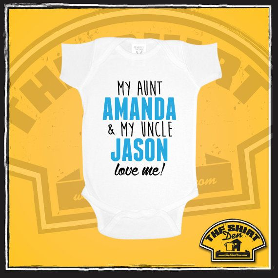 My aunt and uncle love me custom baby bodysuit new by theshirtden my aunt and uncle love me custom baby bodysuit new baby gift personalized gift for niece gift for nephew baby bodysuit one piece negle Choice Image