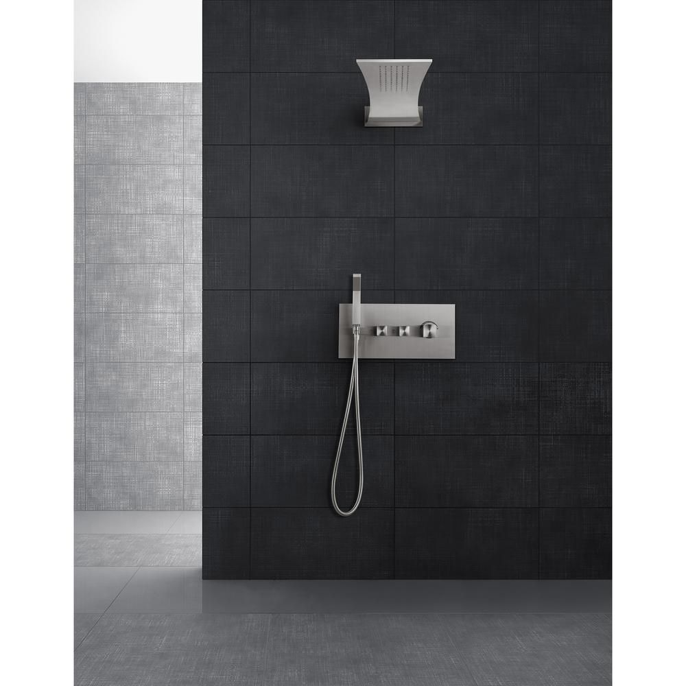 BOANN Single-Handle 3-Spray Tub and Shower Faucet in Brushed Steel ...