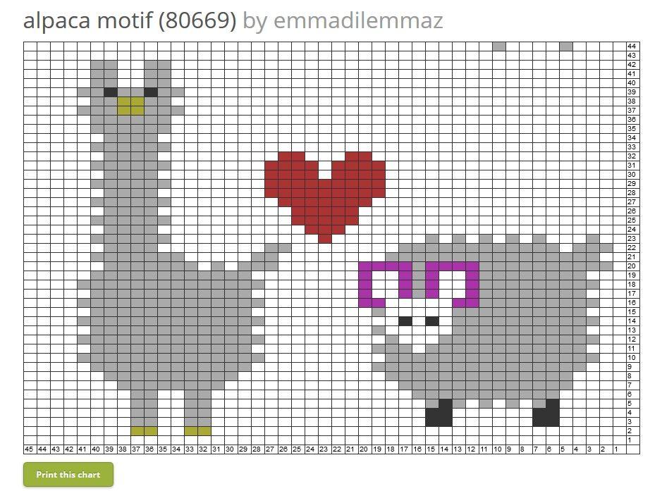 Alpaca and sheep chart - Tricksyknitter.com | Knitting Machine ...