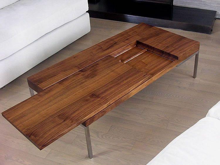 Hidden Drawer Coffee Table Pallet House Desk