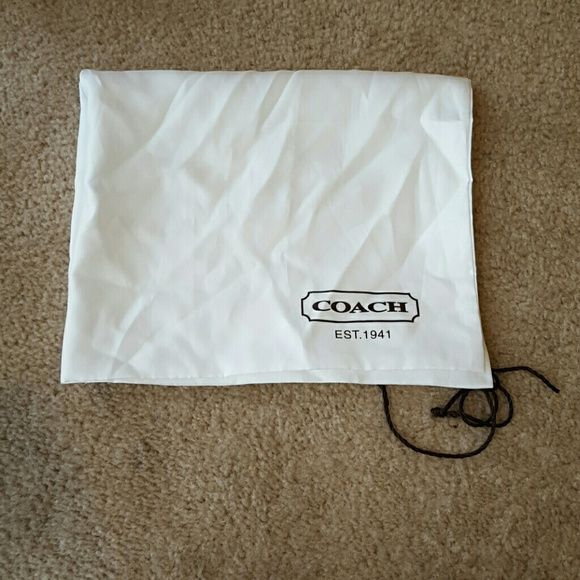 "Coach dust bag! Large Coach dust bag.   Measures 23"" × 19"".  Small flaw on bag as pictured in photo #2. Coach Accessories"