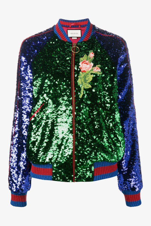 f90af5153 15 sparkly pieces to wear all winter | Dramatic | Bomber jacket ...