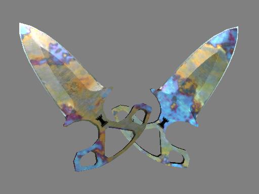 butterfly knife blue steel battle scarred