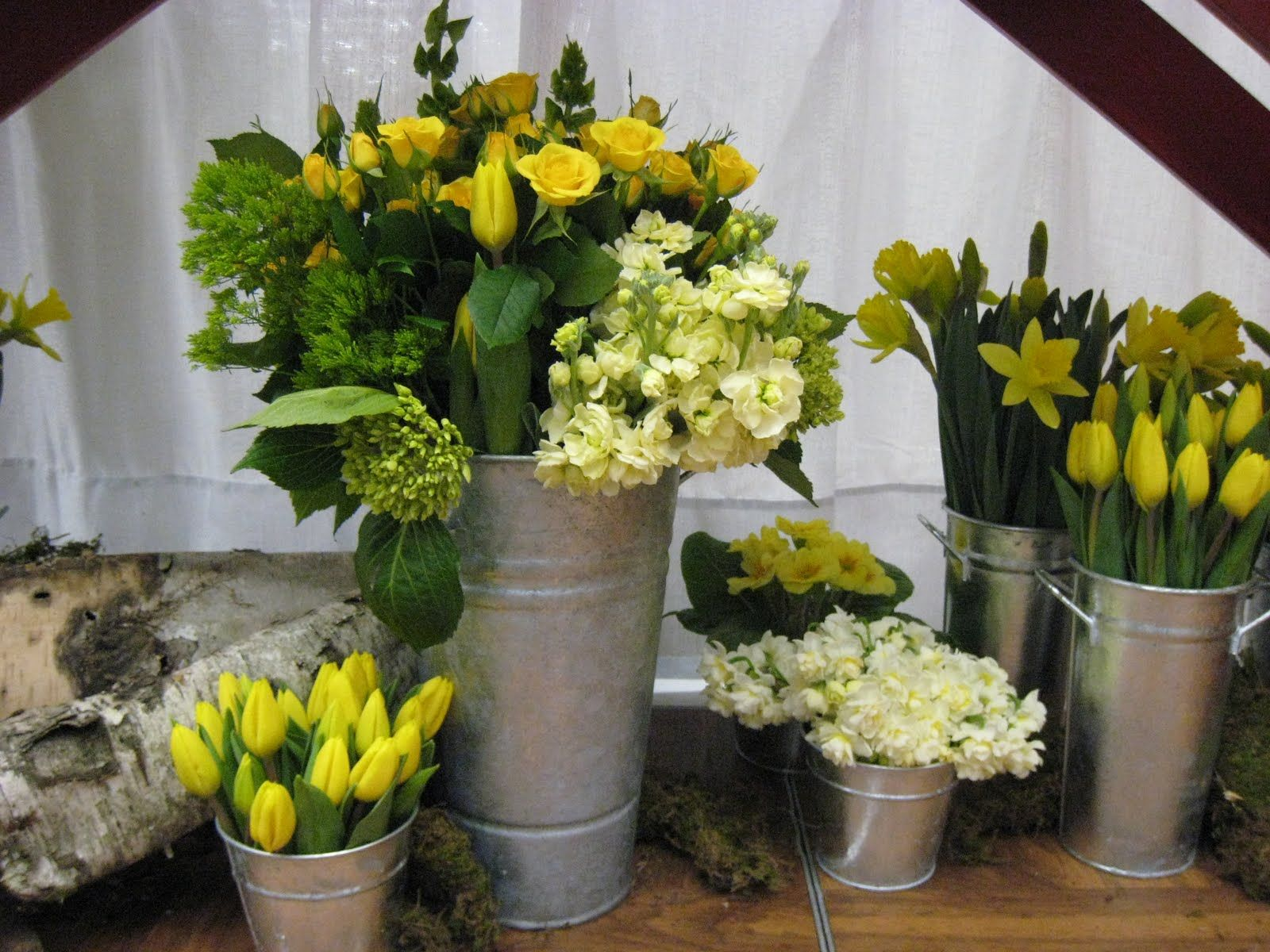 French flower bucket aisle ideas Bridal Flowers Seattle Wedding
