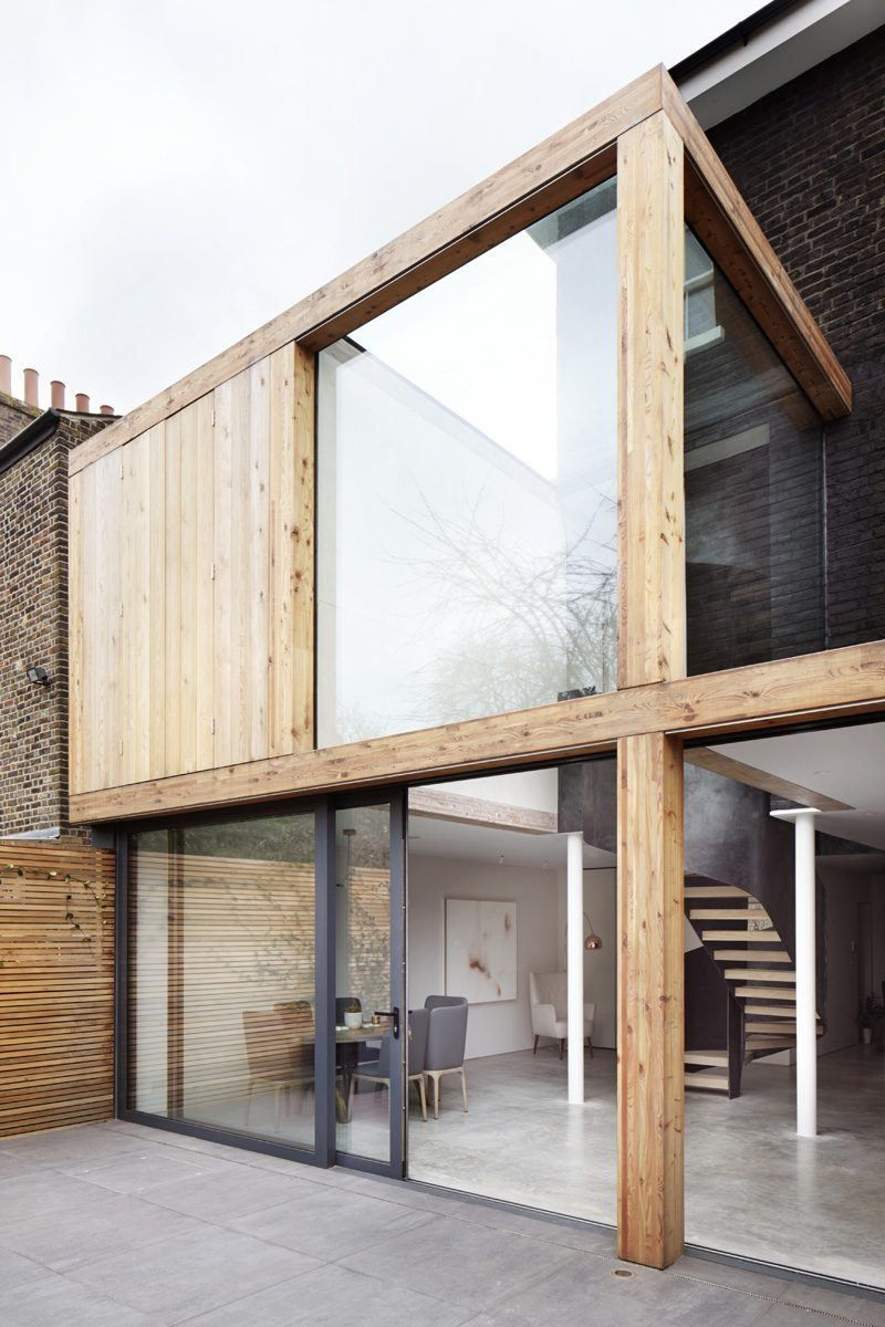 timber-framed house extension in Hackney, East London, De Beauvoir ...