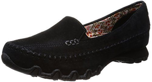 Skechers Suede Bikers Pedestrian Memory Foam Slip on