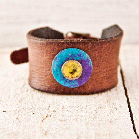 Buckle Wristbands Leather Cuffs Bracelets Gift Guide by rainwheel